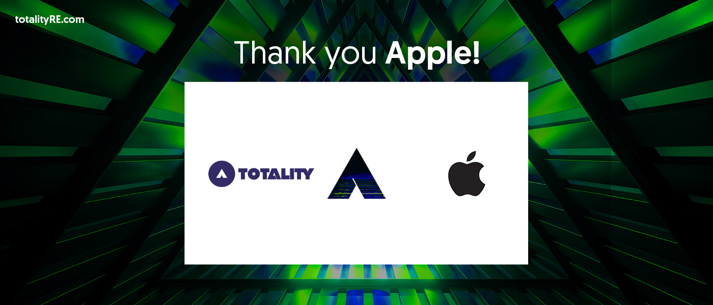 Thank you Apple! To inspire us to chase a great design at Totality